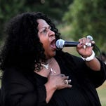 "Iowa City blues artist Gloria Hardiman, pictured, will perform during a rally for her daughter Angelyn ""Angie"" Hargrove, 40, of Chicago who was diagnosed in April 2014 with Stage 3 brain cancer."