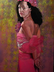 "Juan Rojo, ""Penumbra,"" acrylic and pencil on politab"