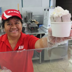 AM Ice Cream in South Milwaukee is literally on a roll