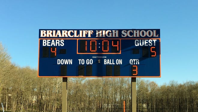 Briarcliff High School scoreboard.