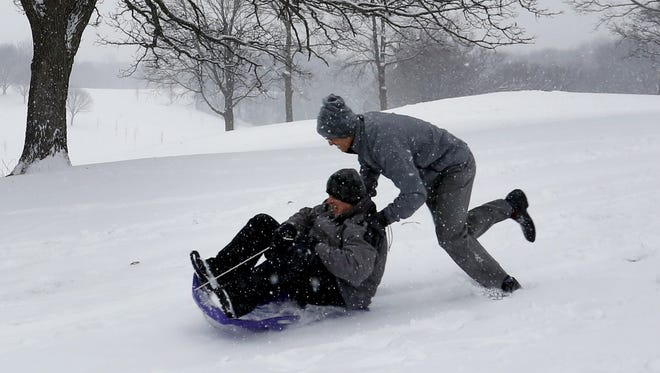 A sledding file photo from last winter.