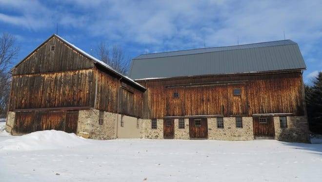 The historical barns as they appear today.