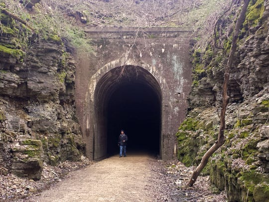 The 1,200-foot Stewart Tunnel is a highlight of the 40-mile Badger State Trail, which travels through Dane and Green counties.