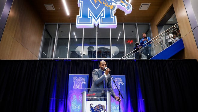 "Anfernee ""Penny"" Hardaway is introduced as the University of Memphis' new head basketball coach at the Laurie-Walton Family Basketball Center Tuesday morning. Hardaway, who a standout player at the U of M from 91-93, will take over for recently fired head coach Tubby Smith."