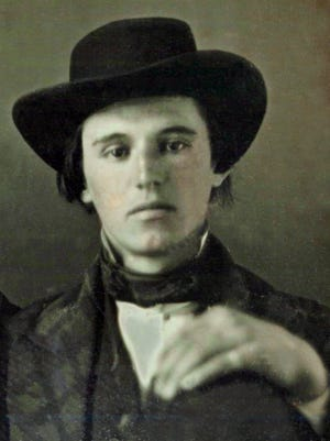 Daguerreotype image of Edwin Merrill Cushing, circa 1850, at the age of 20.