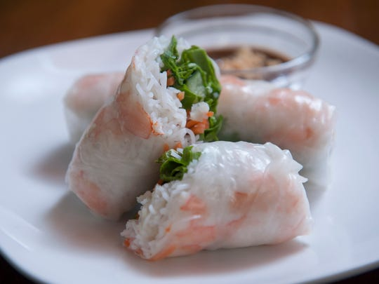 Shrimp summer rolls at Pho-ladelphia.