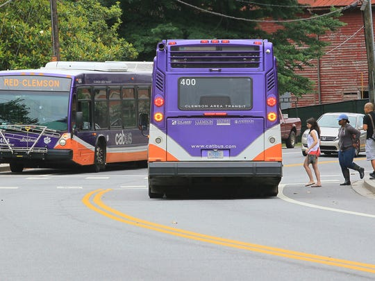 Clemson city officials think increased student reliance on CAT buses and Tiger Transit could ease traffic and parking headaches in downtown Clemson.
