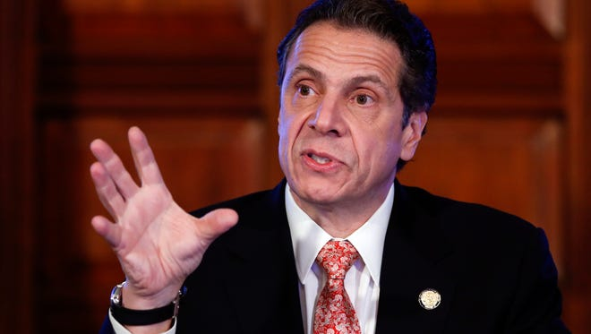 Gov. Andrew Cuomo talks during a cabinet meeting at the Capitol on Wednesday in Albany.