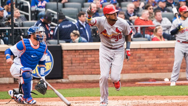 Jose Martinez went 3-for-4 with a home run and two RBI in the Cardinals' season opener.