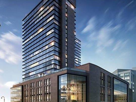 The roughly 600-room Hyatt Regency hotel planned at