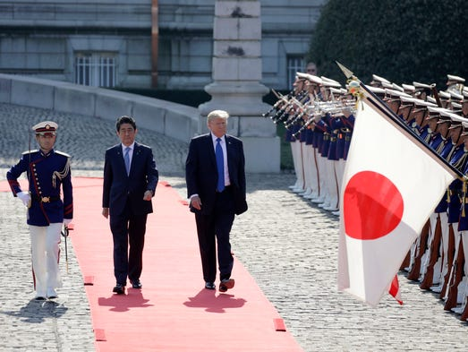 President Donald Trump with Japanese Prime Minister