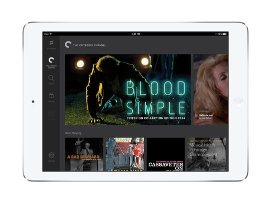 The streaming movie service Filmstruck seen on a tablet.