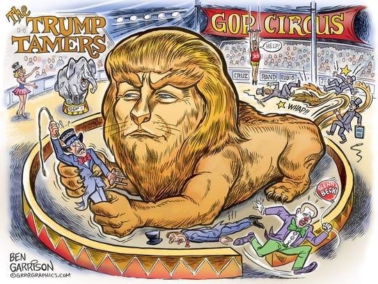 Garrison drew this cartoon just before the 2016 Republican