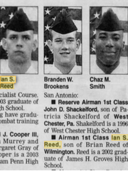 The December 16, 2004, edition of The News Journal featured an announcement of Ian Reed's military service.