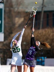 Red Bank Catholic's Mack Boyle (#25) and  Rumson-Fair