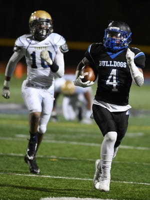 Tyron Brown caught a 15-yard touchdown pass for Passaic Tech on Friday.