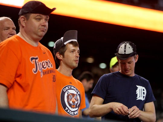 Tigers fans put on their rally caps against the Royals