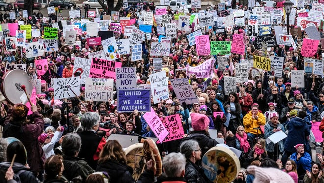 The Women's March Michigan takes place on Sunday, Jan. 21 on the steps of the state Capitol building in Lansing.