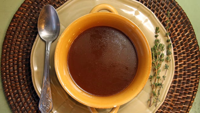 Bone beef broth from Ladle of Love in Mount Kisco on Feb. 17, 2015.