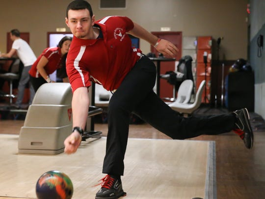 North Rockland's Nick Varano photographed at Hi-Tor Bowling in West Haverstraw on Friday, January 12, 2018.  Nick & Victoria both bowled perfect games on the same day.