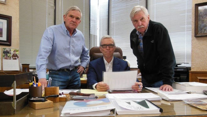 From left to right, Stan Kimbell, David Kimbell Jr. and G.T. Kimbell II are family members who spearhead the legacy of Wichita Falls-based Burk Royalty Co., which was established in the 1920s. The company will be honored as Member of the Year during the Texas Alliance of Energy Producers' 87th Annual Meeting and Expo April 25-26.