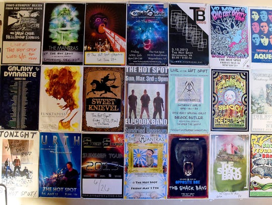 Musical billing posters of various acts who performed