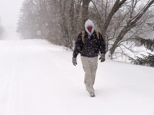 A cold walk south - main