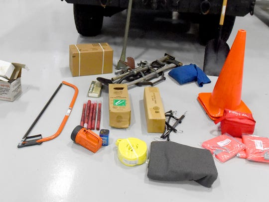 Gear and supplies needed for snow-response missions