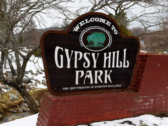 Gypsy Hill Park sign