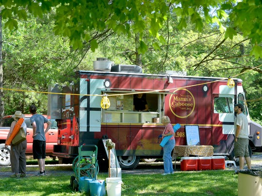 The Mama's Caboose food truck offers its services to
