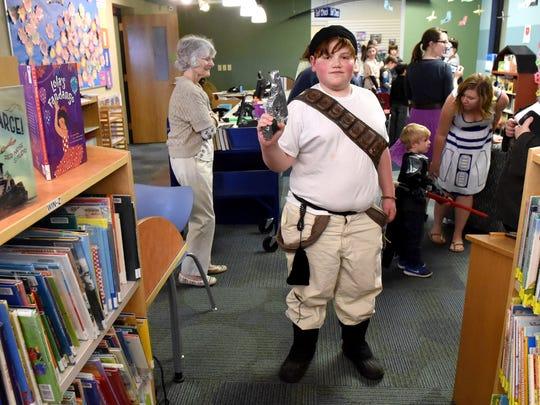 Josiah Kravitz, 12, of Staunton shows off his smuggler costume he created, aka. 'Jack Mattle.'