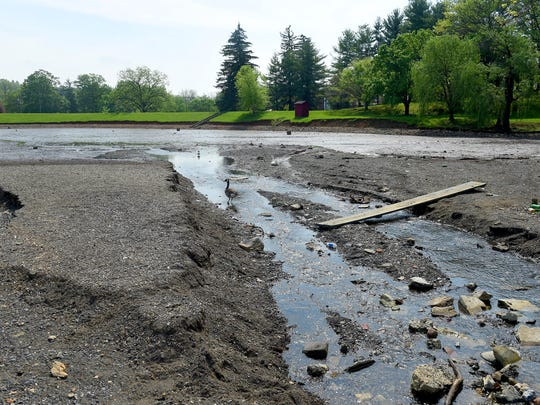 Lake Tams is being drained so that it can dry out in