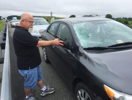 Man struck by car