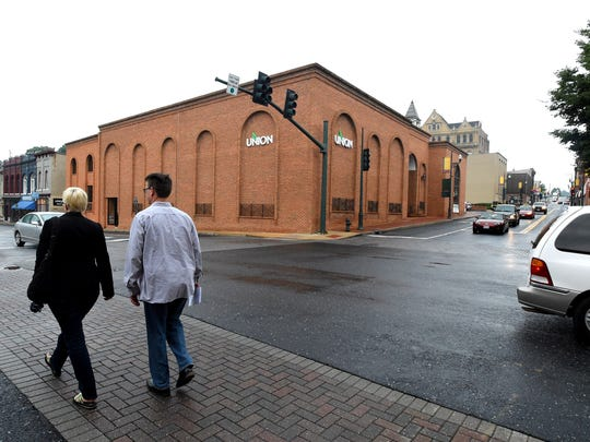 The Union Bank building located at West Johnson and South Augusta streets in downtown could become part of a consolidated downtown Staunton courts complex to be presented Monday at city hall.