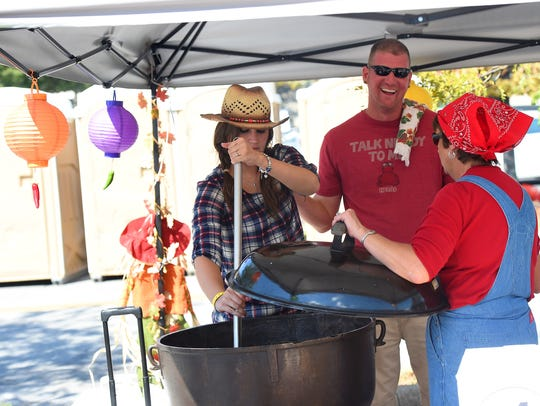 "Jenna Steckel of the ""Country Bumpkins"" chili cook"