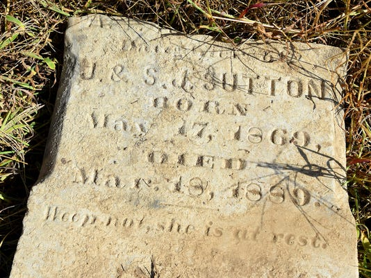 Recovered Tombstone