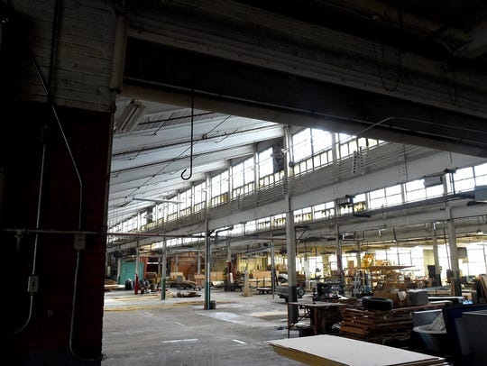 Inside the main floor of the former Virginia Metalcrafters