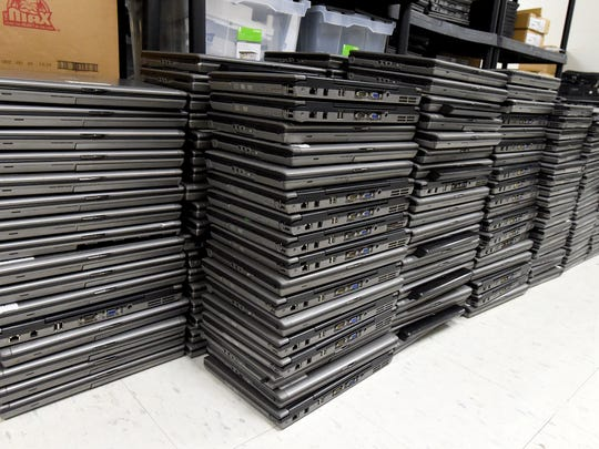 Just some of the older model laptops already retrieved