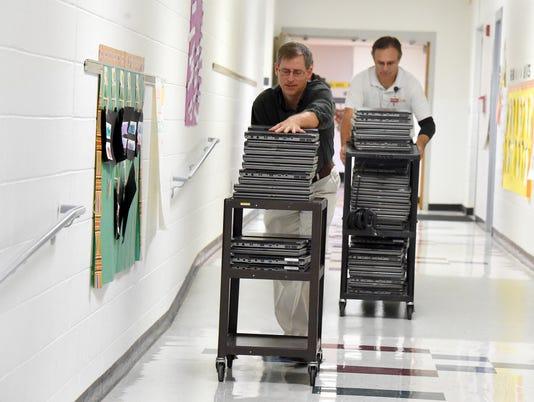 Staunton City Schools' old computers