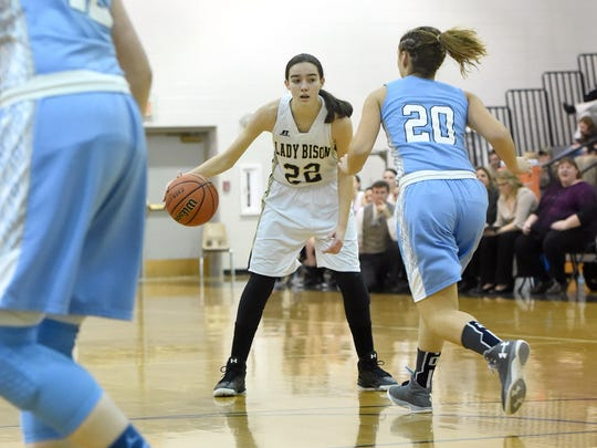 Junior guard Leah Calhoun was a second-team All-Shenandoah, All-Region 2A East and All-City/County player last year for Buffalo Gap.