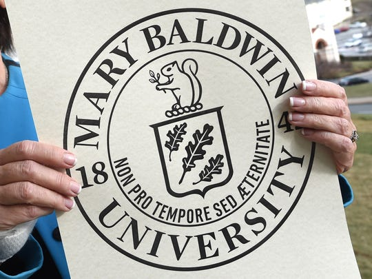 A copy of what the college's new seal will look like when they change their name officially to Mary Baldwin University later this year on August 31.