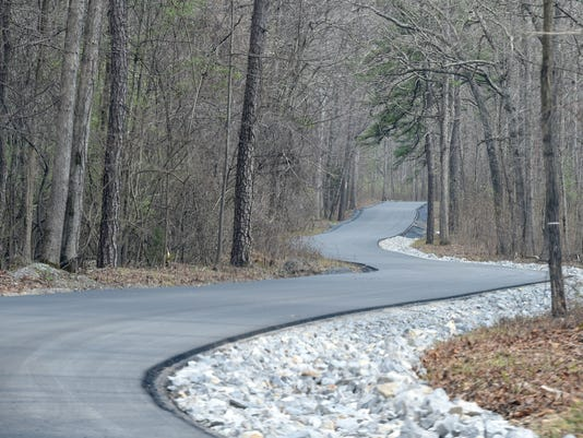 Paved section of Coal Road