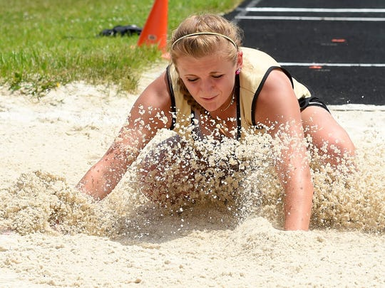 Marybeth Strickler will compete in both track and softball for Buffalo Gap this season.