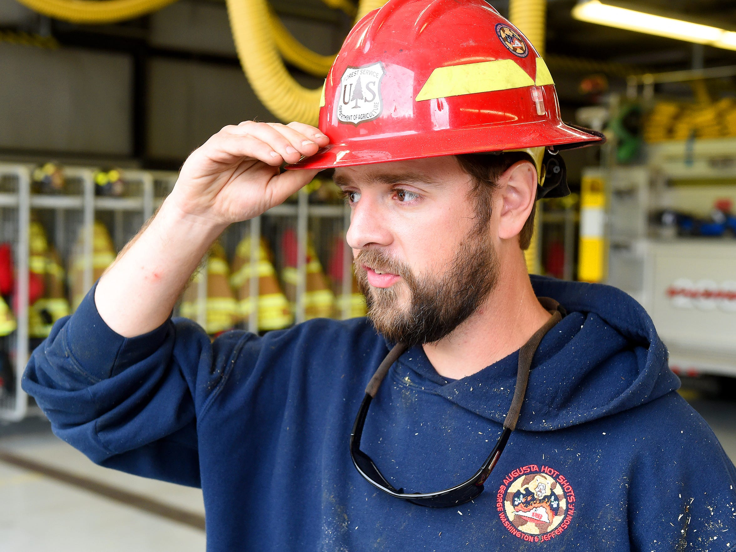 Chris Stefanides, a firefighter with the Augusta Interagency