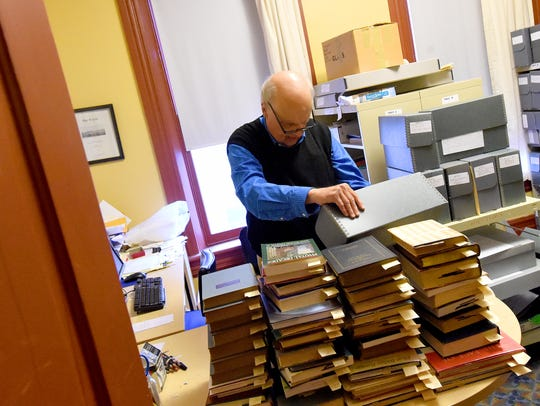 Ken Keller works as archivist for the Augusta County