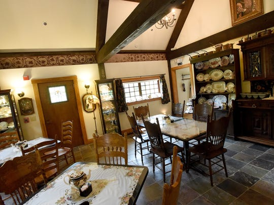 Inside the Anne Hathaway Cottage Tea Room in Staunton.