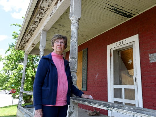 Velma Bryan, president of Red Brick House Inc., has been active in working with others to have the 19th-century red brick Arnold House located on New Hope Road in Waynesboro saved.