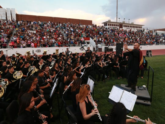 Ysleta High School musicians played at Tuesday's commencement.