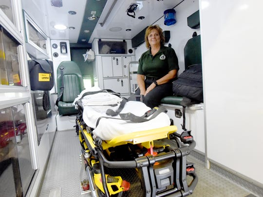Kim Craig is the executive director of Staunton-Augusta Rescue Squad. She is photographed inside one of the department's rescue squads on Thursday, July 7, 2016.