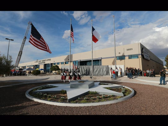 The El Paso County Law Enforcement Memorial Wall is outside of the El Paso County Sheriff's Office Headquarters.